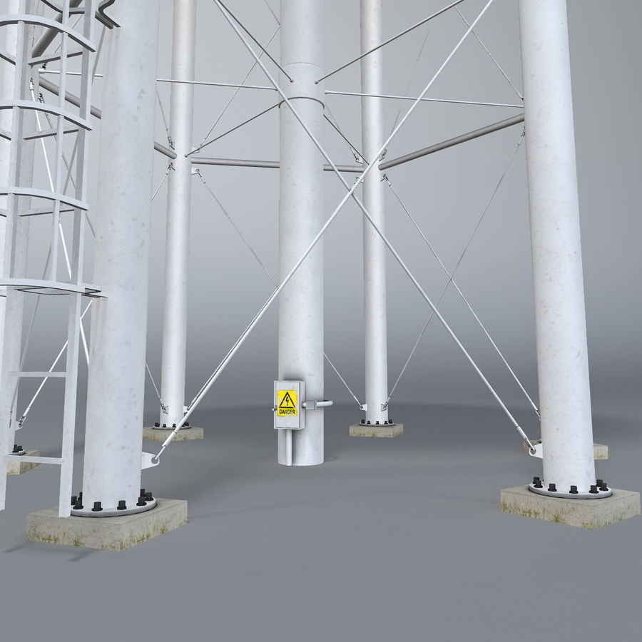 Water tower royalty-free 3d model - Preview no. 4