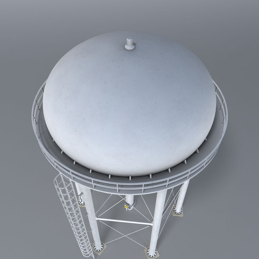 Water tower royalty-free 3d model - Preview no. 5