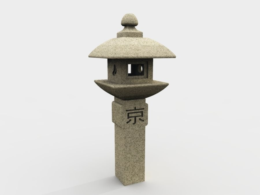 日本の石灯籠 royalty-free 3d model - Preview no. 1