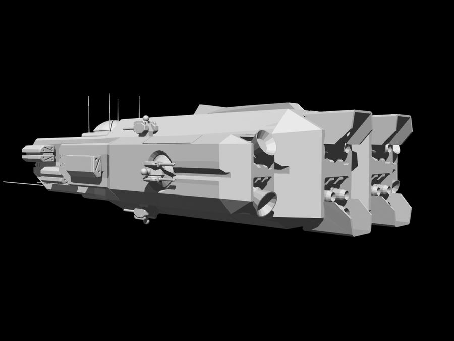 Space Cruiser royalty-free 3d model - Preview no. 12