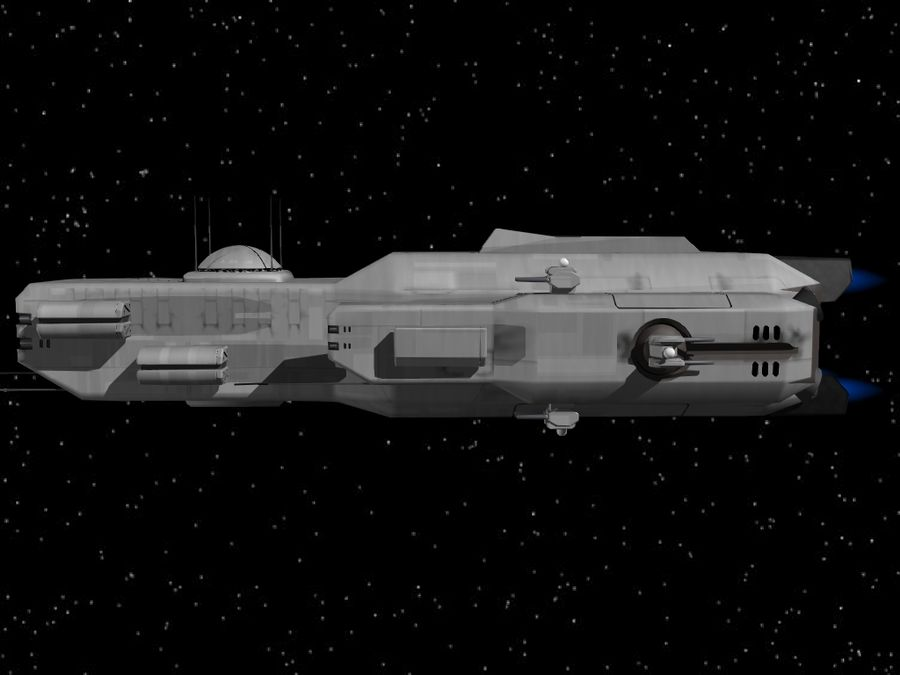 Space Cruiser royalty-free 3d model - Preview no. 4