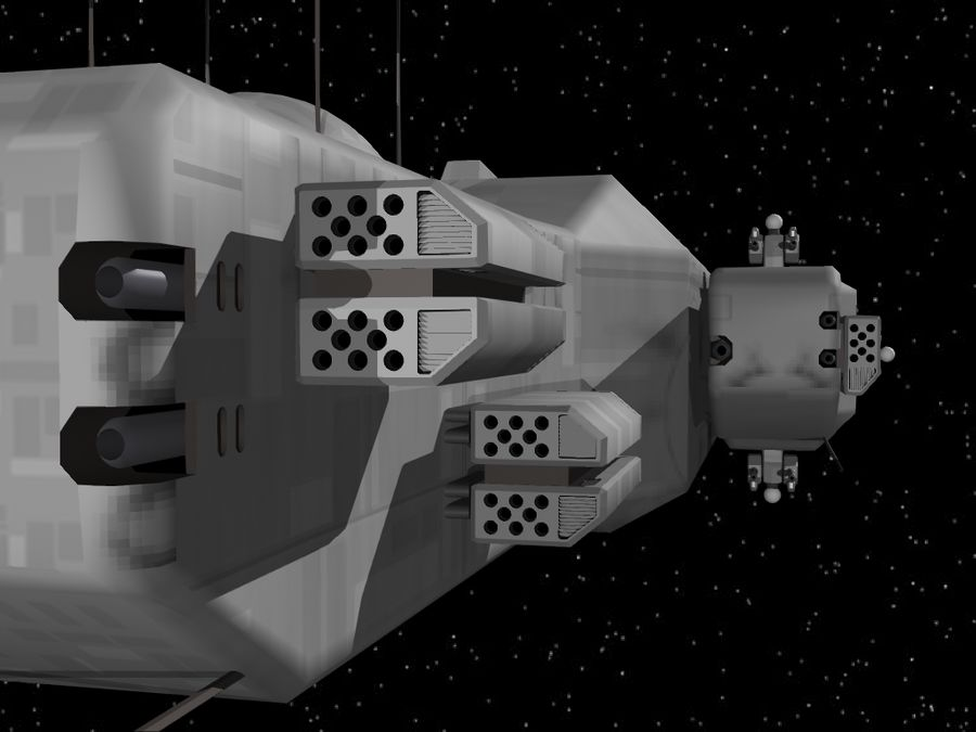 Space Cruiser royalty-free 3d model - Preview no. 9