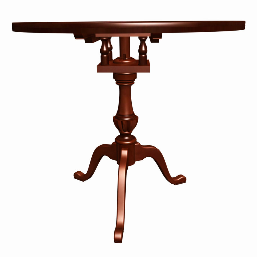 Chippendale Tea Table royalty-free 3d model - Preview no. 2