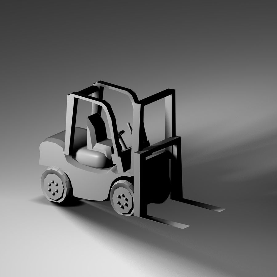 forklift royalty-free 3d model - Preview no. 6