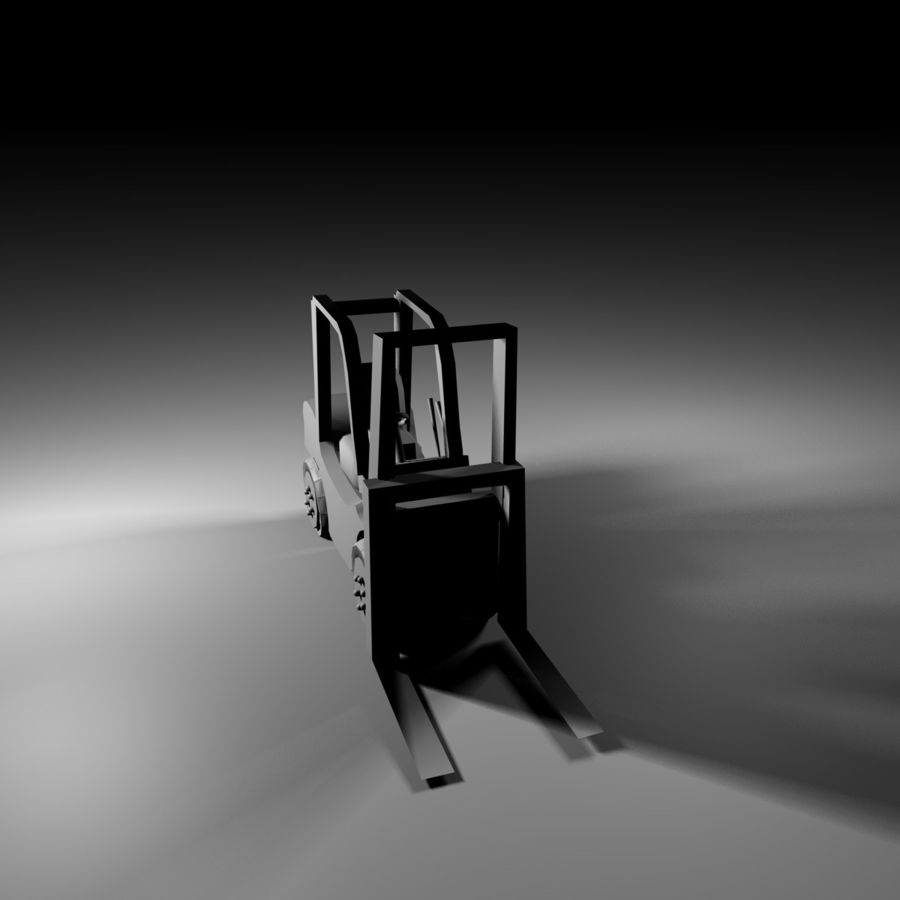 forklift royalty-free 3d model - Preview no. 7
