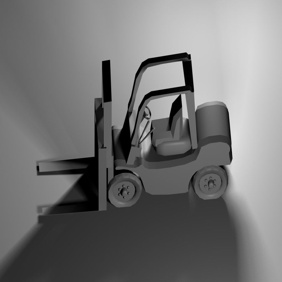 forklift royalty-free 3d model - Preview no. 5