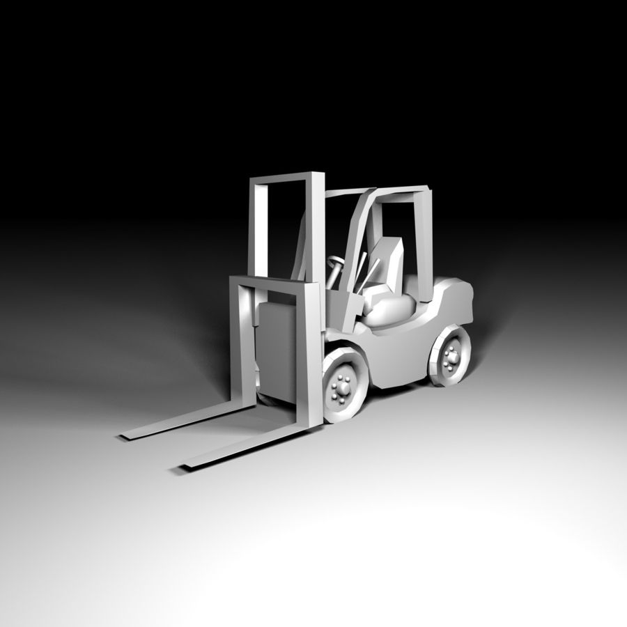 forklift royalty-free 3d model - Preview no. 3
