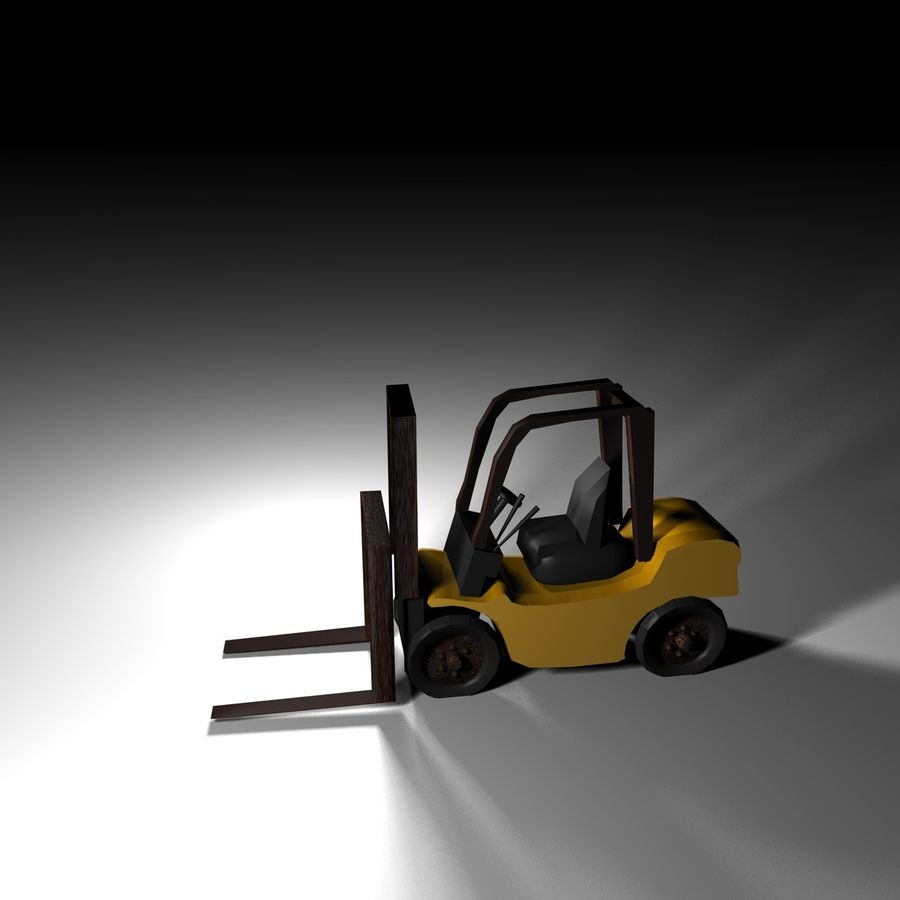 forklift royalty-free 3d model - Preview no. 1