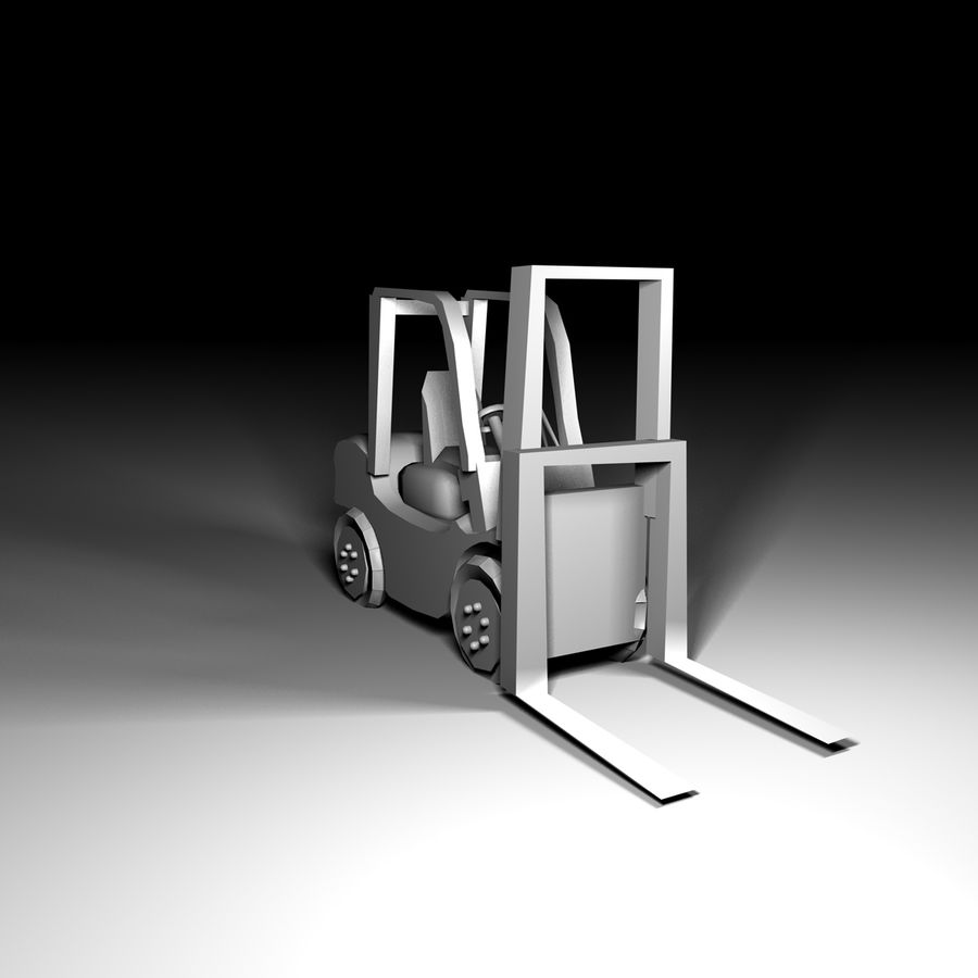 forklift royalty-free 3d model - Preview no. 4