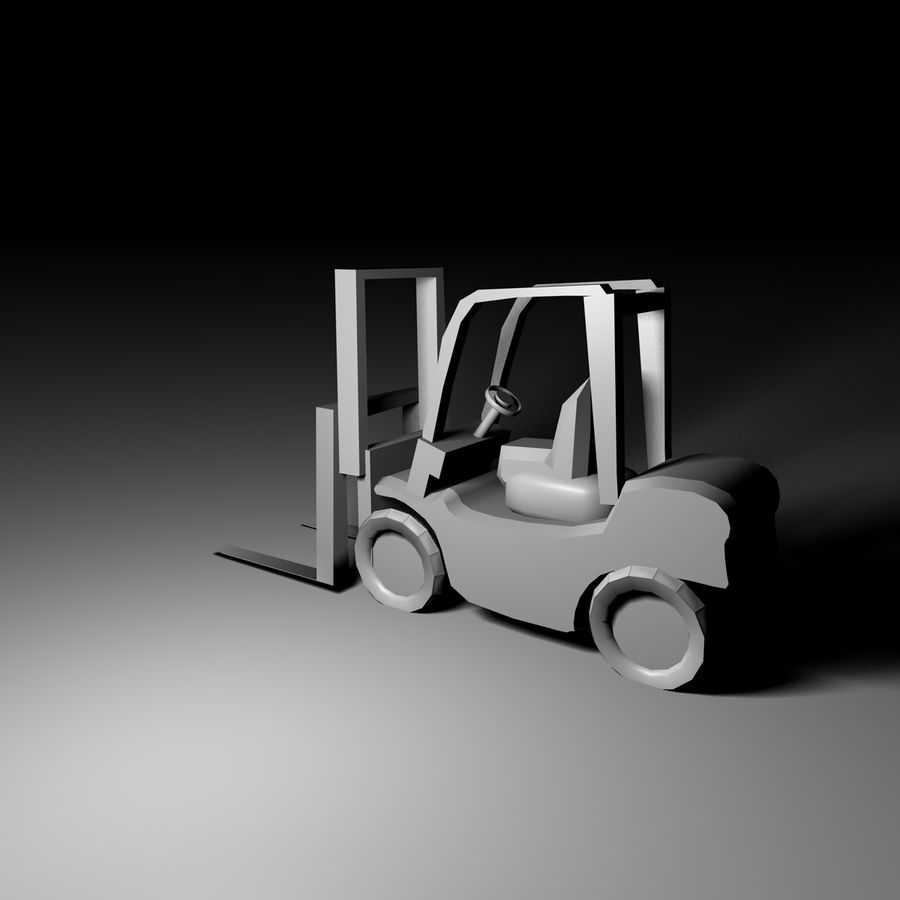 forklift royalty-free 3d model - Preview no. 2