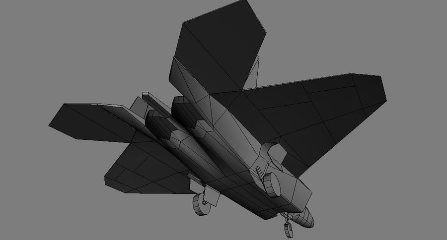 F-22 raptor royalty-free 3d model - Preview no. 4