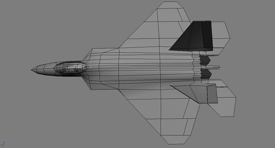 F-22 raptor royalty-free 3d model - Preview no. 3