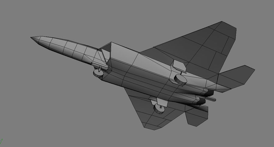 F-22 raptor royalty-free 3d model - Preview no. 5