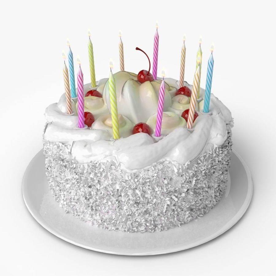 Admirable Birthday Cake 3D Model 10 Obj Max Ma Fbx 3Ds Free3D Personalised Birthday Cards Veneteletsinfo