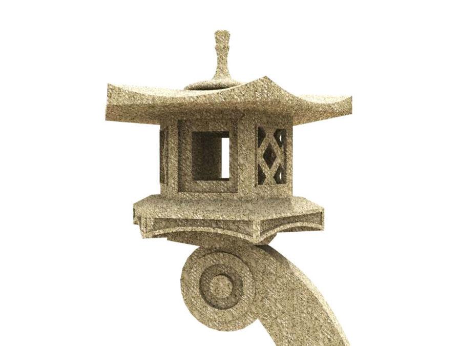 Japanese Stone Lantern royalty-free 3d model - Preview no. 2