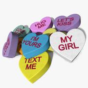 Süßigkeiten Herzen 3d model