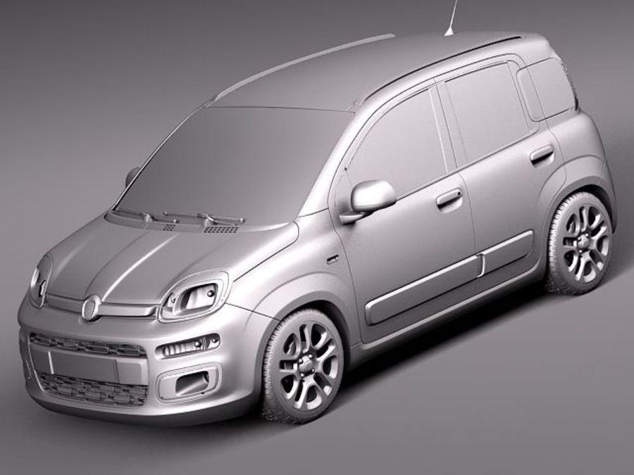 Fiat Panda 2012 royalty-free 3d model - Preview no. 12