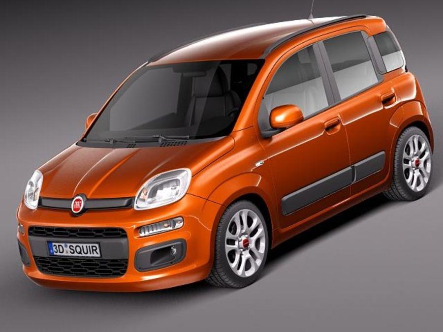 Fiat Panda 2012 royalty-free 3d model - Preview no. 1