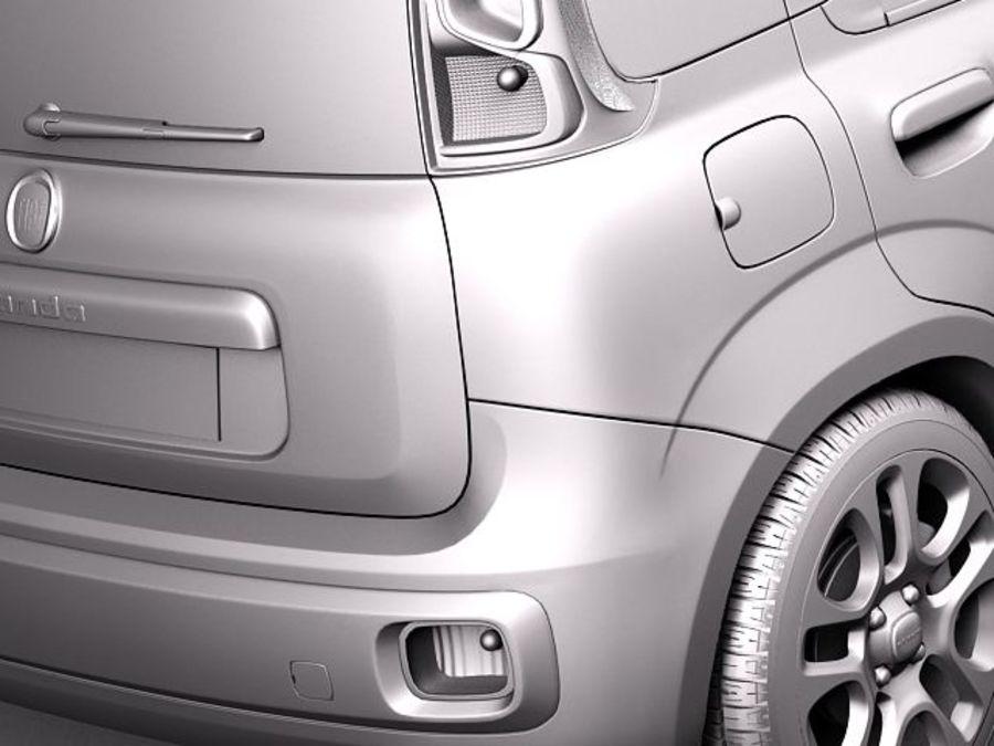 Fiat Panda 2012 royalty-free 3d model - Preview no. 10