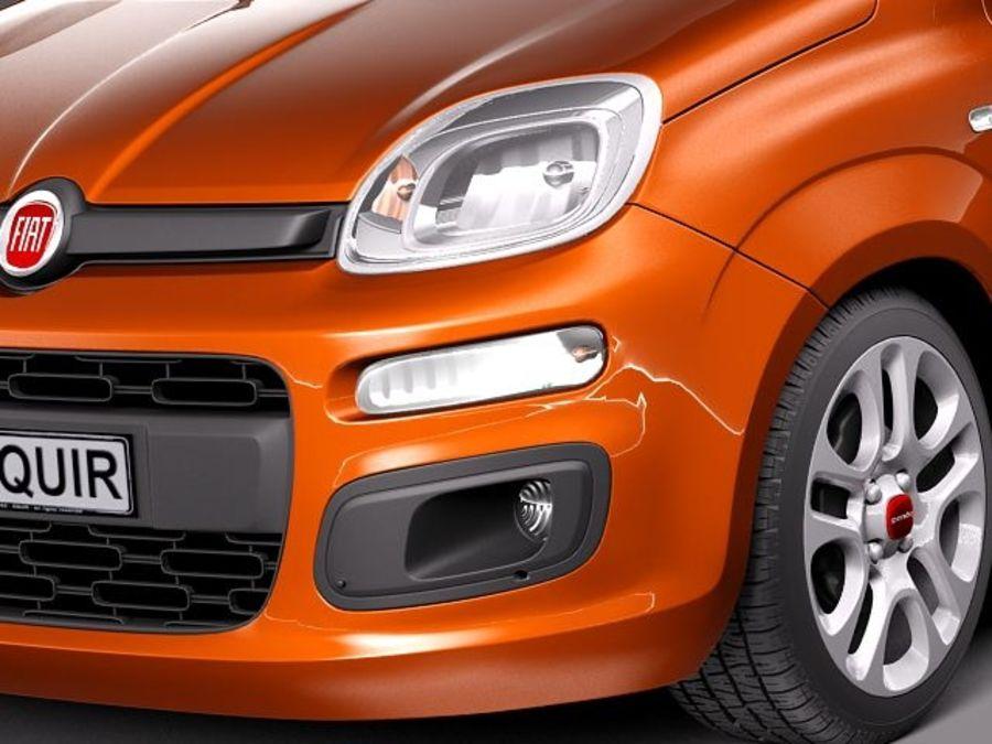 Fiat Panda 2012 royalty-free 3d model - Preview no. 3
