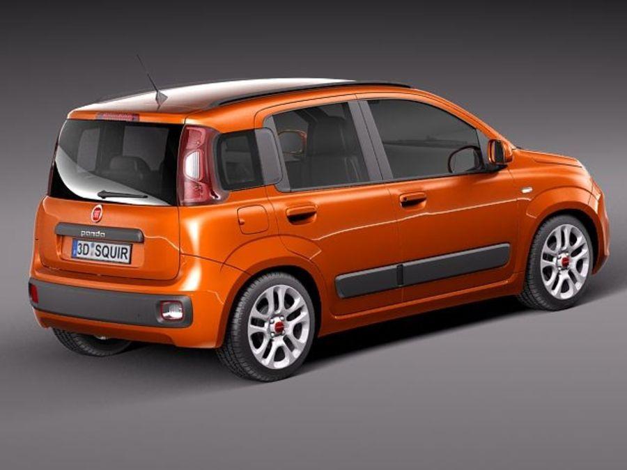 Fiat Panda 2012 royalty-free 3d model - Preview no. 6