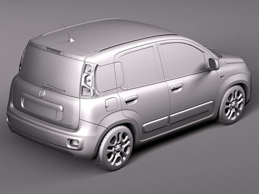Fiat Panda 2012 royalty-free 3d model - Preview no. 9