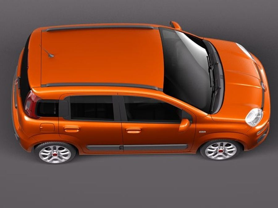 Fiat Panda 2012 royalty-free 3d model - Preview no. 8