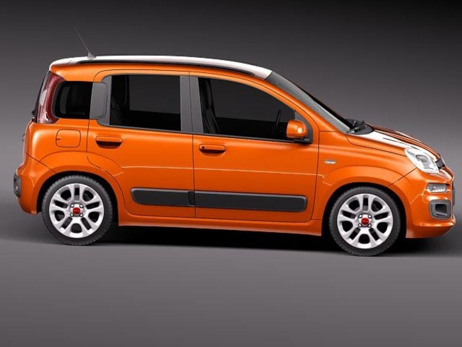 Fiat Panda 2012 royalty-free 3d model - Preview no. 7