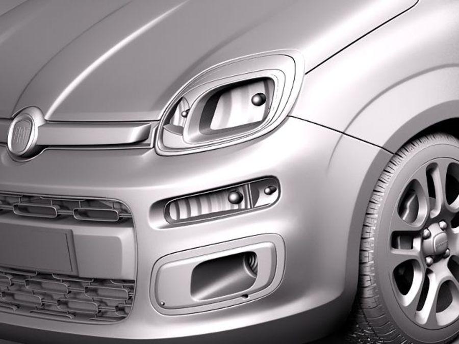 Fiat Panda 2012 royalty-free 3d model - Preview no. 11