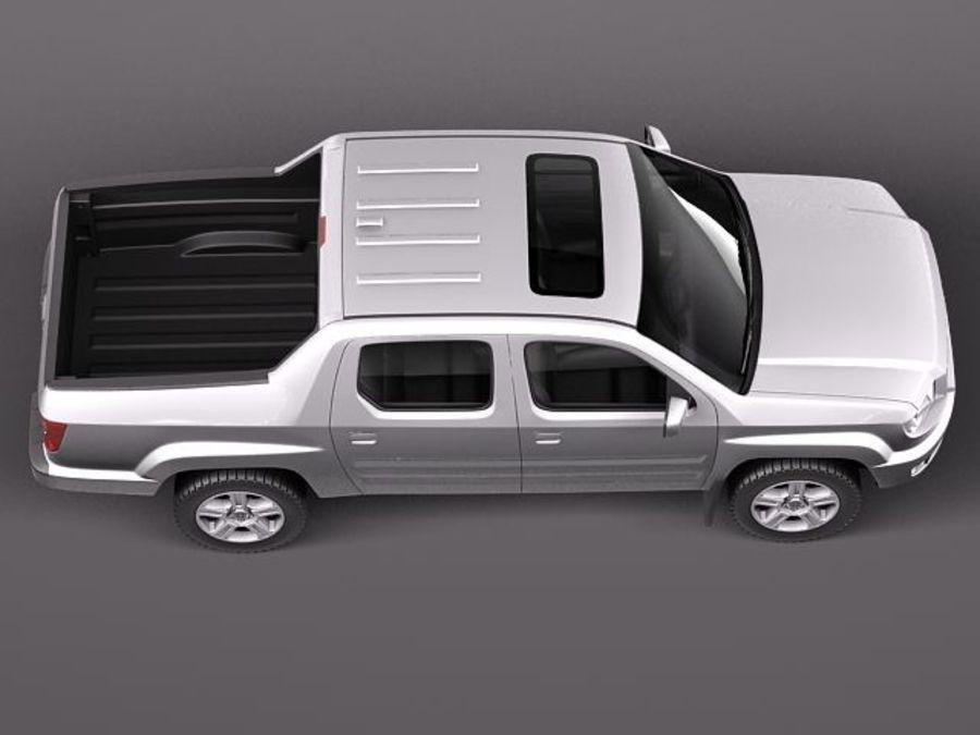 Honda Ridgeline 2012 royalty-free 3d model - Preview no. 8