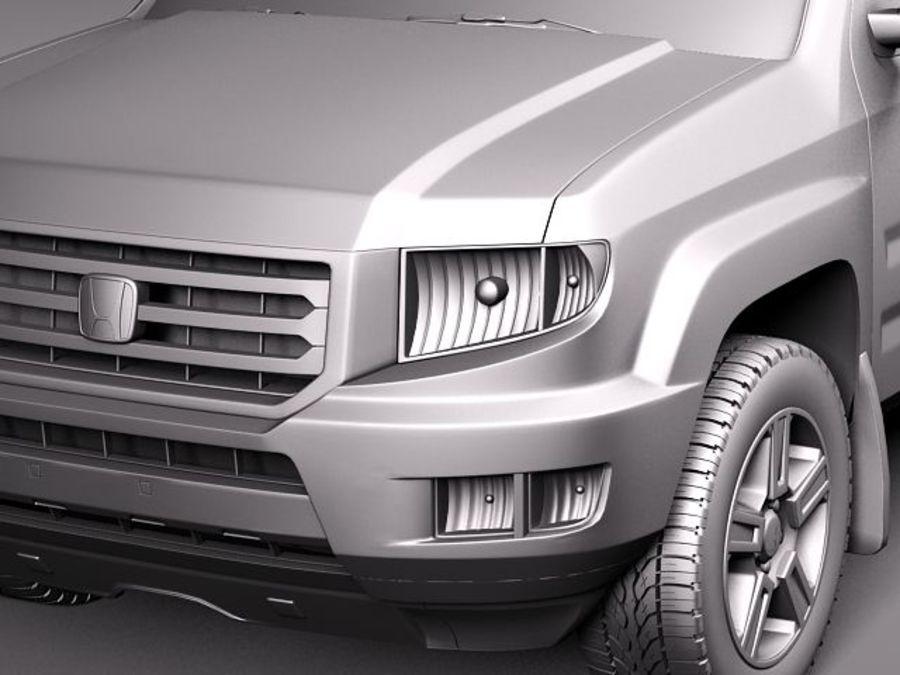 Honda Ridgeline 2012 royalty-free 3d model - Preview no. 11