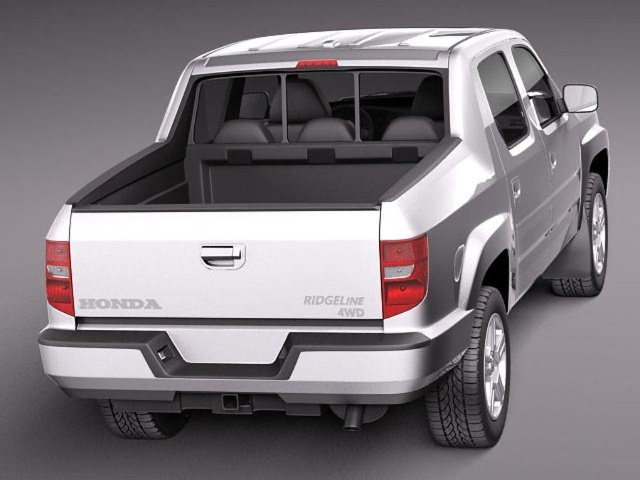 Honda Ridgeline 2012 royalty-free 3d model - Preview no. 6