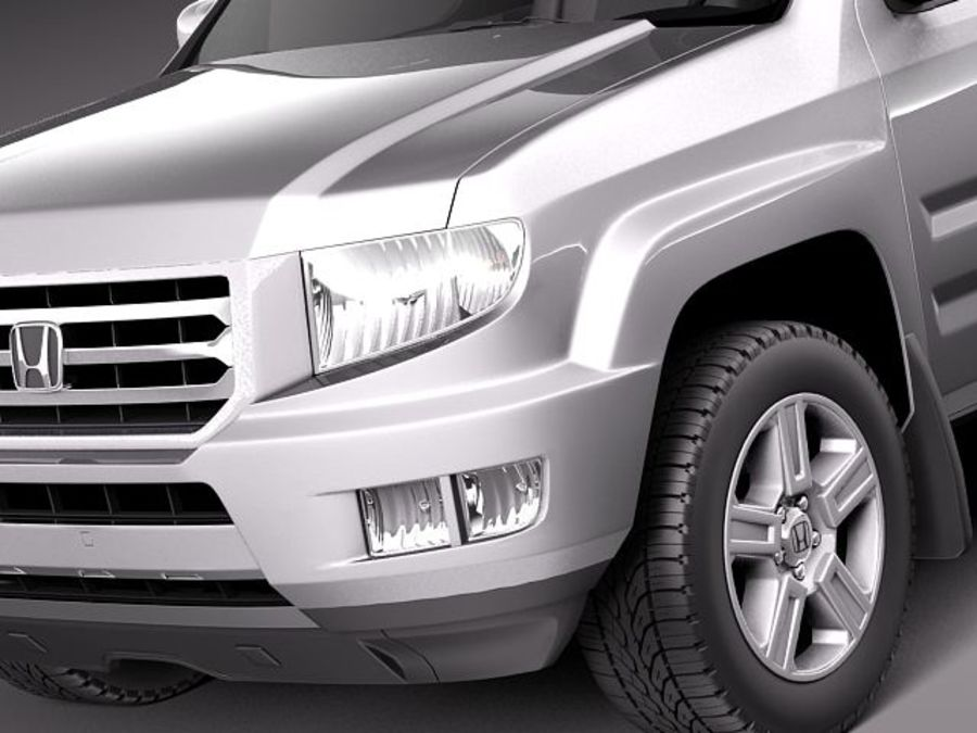 Honda Ridgeline 2012 royalty-free 3d model - Preview no. 3
