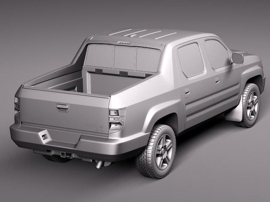Honda Ridgeline 2012 royalty-free 3d model - Preview no. 9