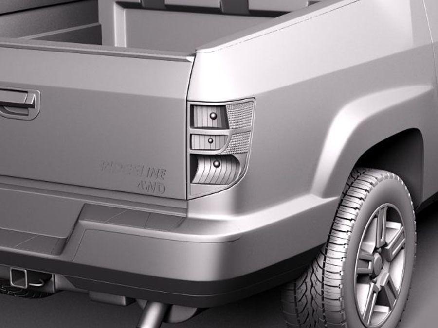 Honda Ridgeline 2012 royalty-free 3d model - Preview no. 10