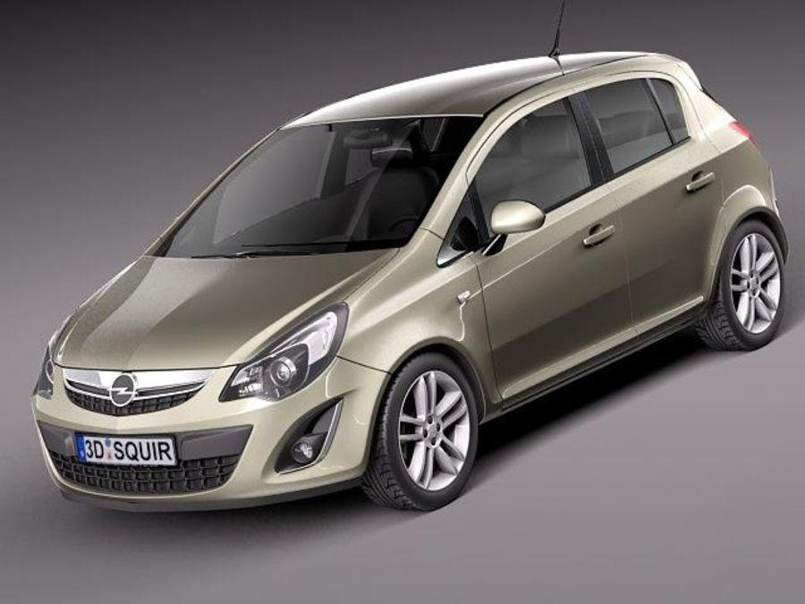 Opel Corsa 5 door 2012 3d model & Opel Corsa 5 door 2012 3D Model $129 - .obj .max .lwo .fbx .c4d ...