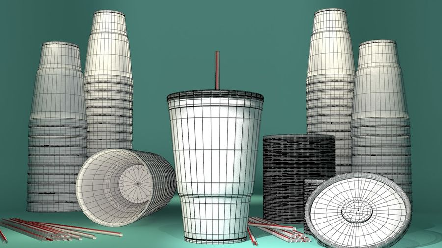 Styrofoam Cup royalty-free 3d model - Preview no. 2