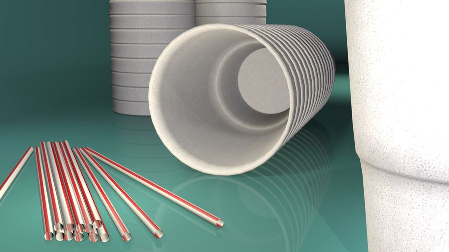Styrofoam Cup royalty-free 3d model - Preview no. 4
