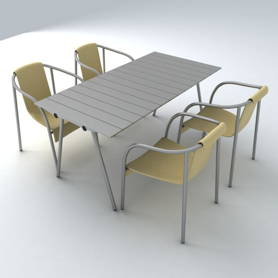 Garden Furniture set 11 royalty-free 3d model - Preview no. 1