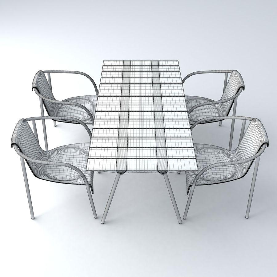 Garden Furniture set 11 royalty-free 3d model - Preview no. 4