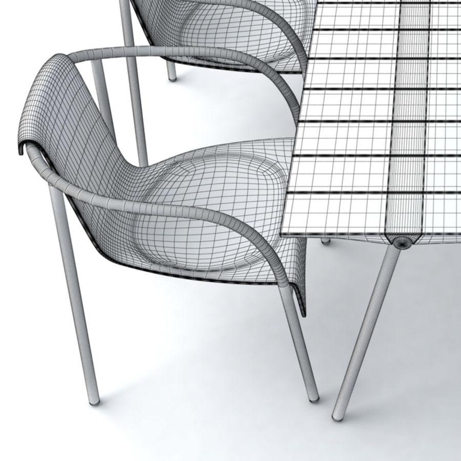 Garden Furniture set 11 royalty-free 3d model - Preview no. 5