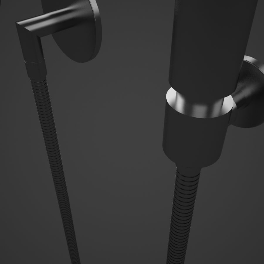 Dornbracht Tara Logic Hand Shower royalty-free 3d model - Preview no. 5