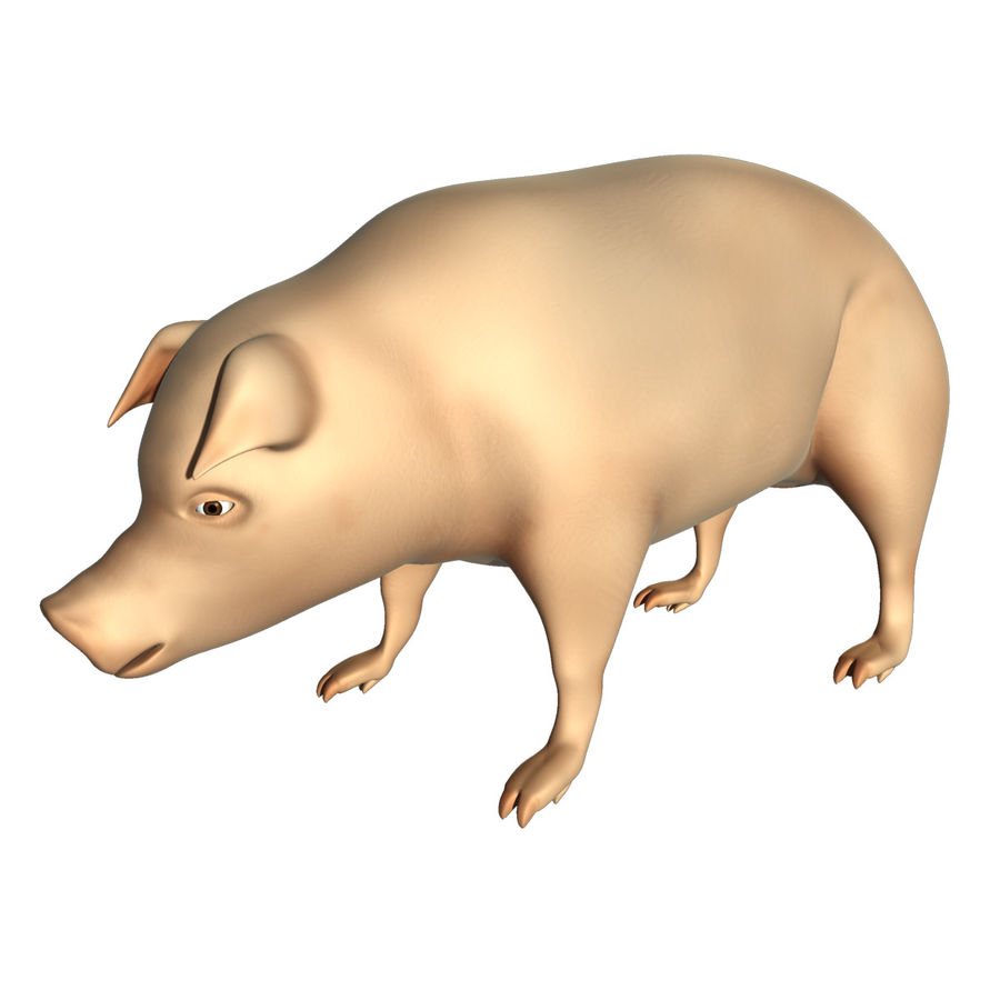 Pig Low Poly royalty-free 3d model - Preview no. 1