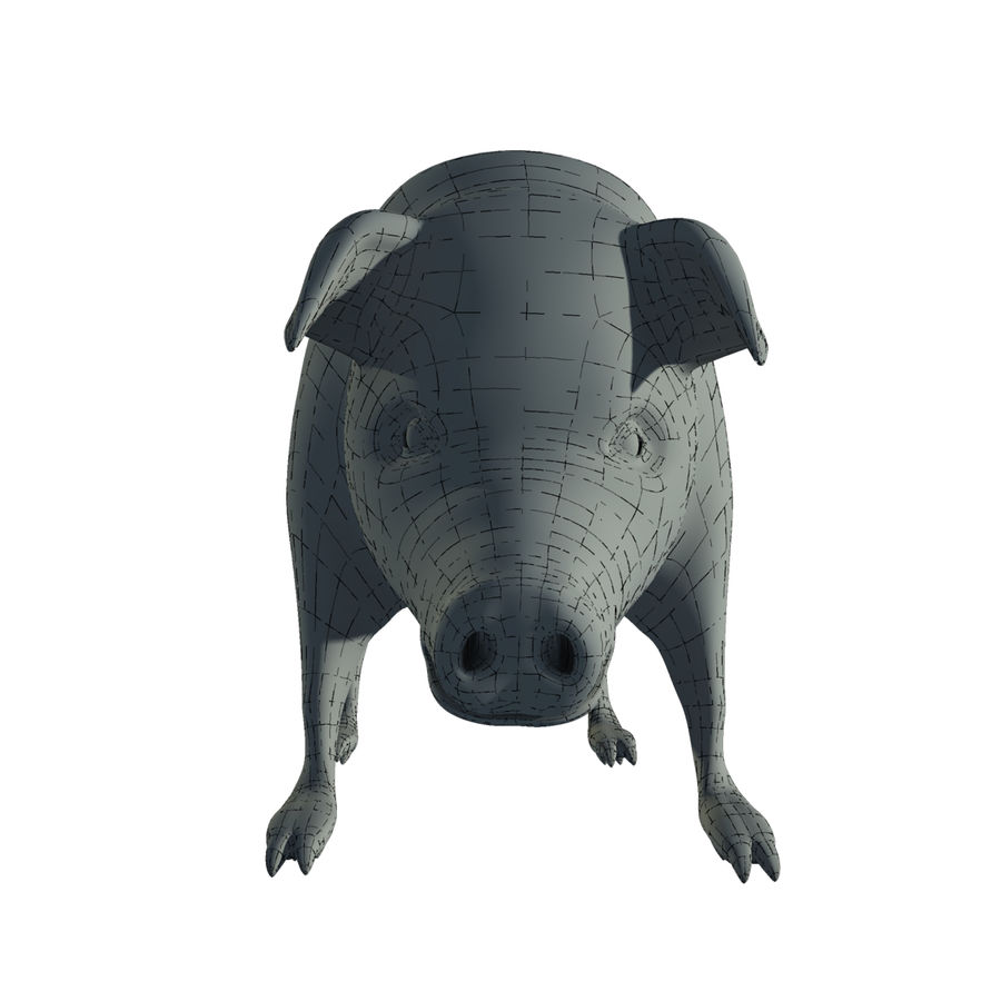 Pig Low Poly royalty-free 3d model - Preview no. 9