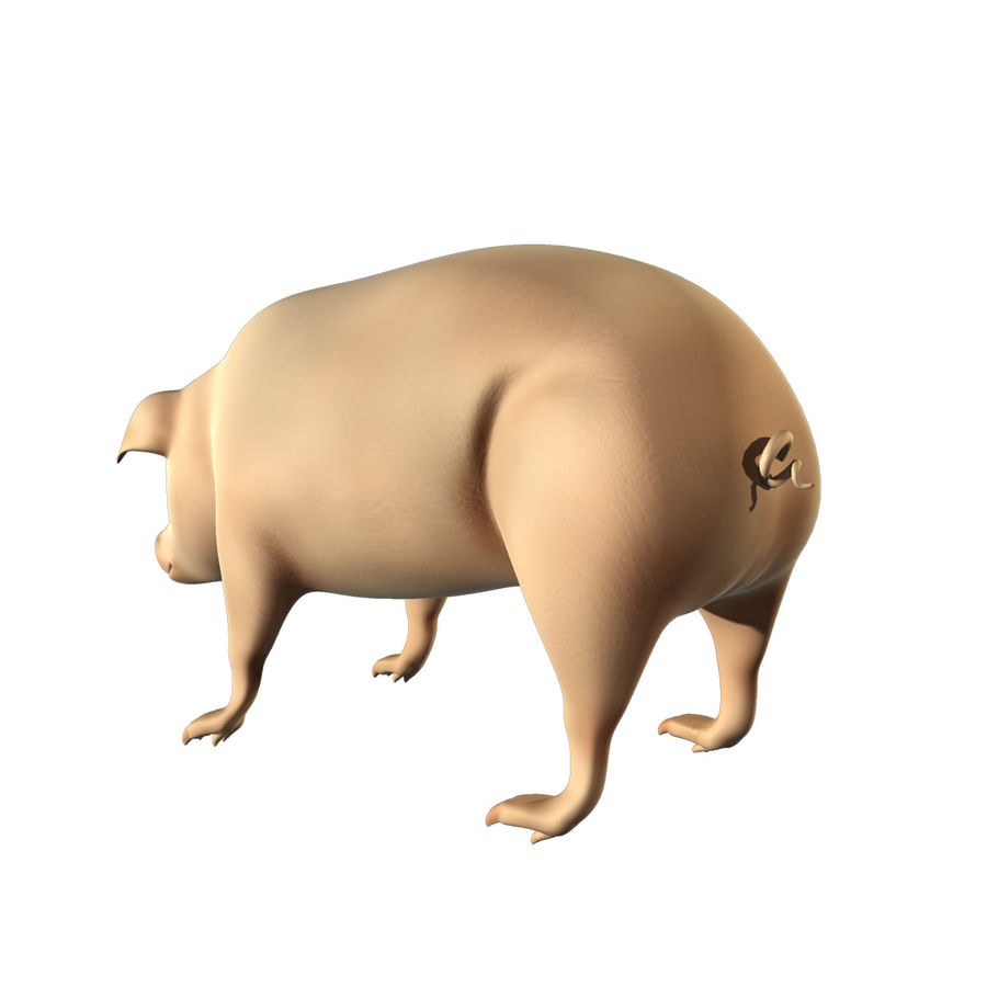 Pig Low Poly royalty-free 3d model - Preview no. 3