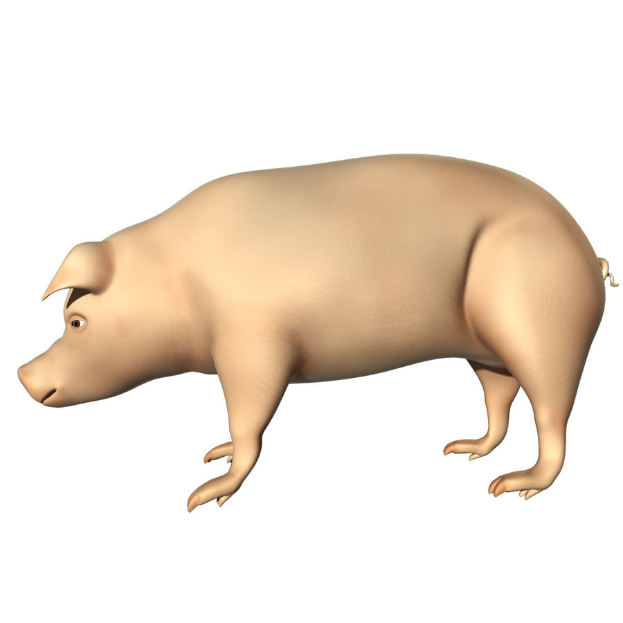 Pig Low Poly royalty-free 3d model - Preview no. 4
