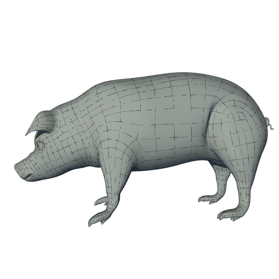 Pig Low Poly royalty-free 3d model - Preview no. 10