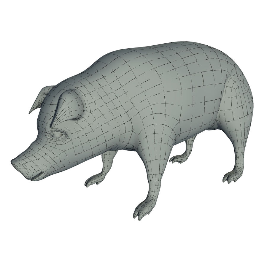 Pig Low Poly royalty-free 3d model - Preview no. 8