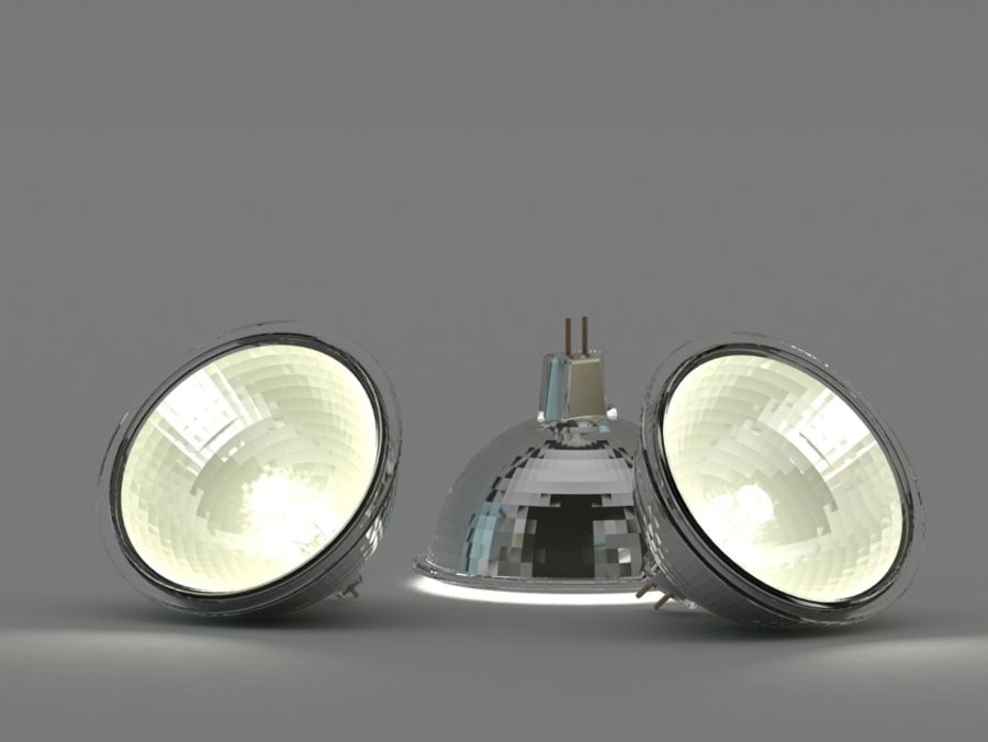 Halogen Bulb royalty-free 3d model - Preview no. 3