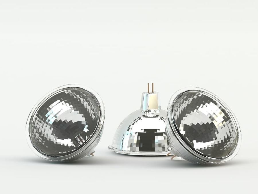 Halogen Bulb royalty-free 3d model - Preview no. 2